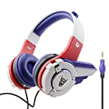 Kids Headphones, VCOM Adjustable Over Ear Stereo Boys Girls Lightweight Robot Design Children Safe Music Gaming Headsets with 3.5 Mm Audio Cable for iPhone Smartphone Laptop Computer PC Tablet -Blue