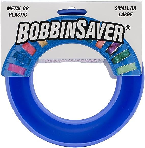 2 Pack Rubber Bobbin Ring Savers Bobbin Organizers Bobbin Holders for Metal or Plastic Sewing Machine Bobbins Blue and Purple Magicfour Bobbin Holders