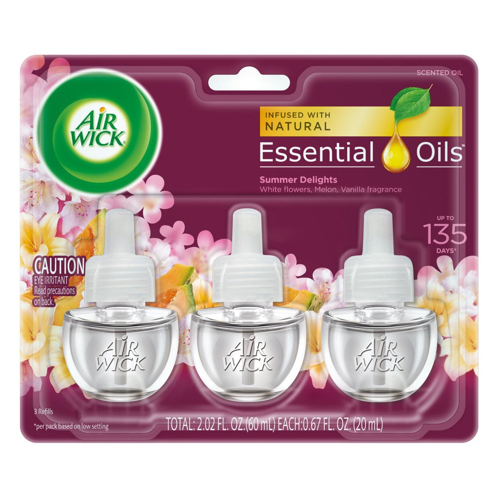 Air Wick Scented Oil 3 Refills, Snuggle Fresh Linen, (3X0.67oz), Air Freshener ASA-169