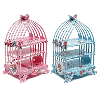 Cikuso - Soporte de cartón para cupcakes, diseño de jaula, color ...