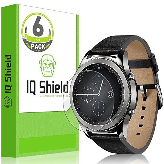 Samsung Gear S3 Classic Screen Protector, IQ Shield LiQuidSkin Full Coverage Screen Protector for Samsung Gear S3 Classic (LTE Compatible 6-Pack) HD ...