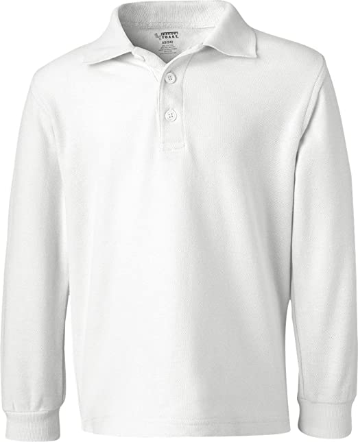 5c0cd15932a9 Amazon.com: French Toast Long Sleeve Pique Polo Boys White 8: School  Uniform Polo Shirts: Clothing
