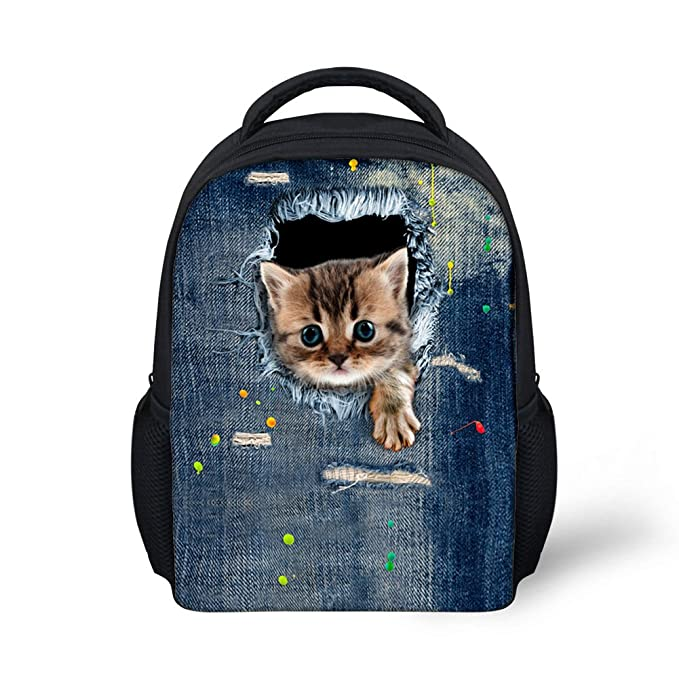 Showudesigns 3D Animal Kitty Cat Design Girls Boys Small Back Pack with  Water Pocket c13ef28eebe52