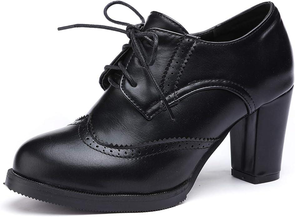 Oxford chunky heel shoes