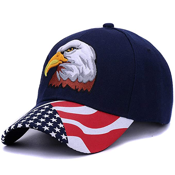 bfe77bdfc5d 2019 Spring Summer Mens Baseball caps Embroidery Eagle Hunting Desert hat  Women Hip hop Adjustable Golf