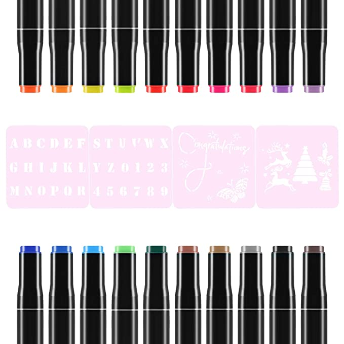 Rotuladores de tela permanentes de 20 colores, marcadores de arte ...