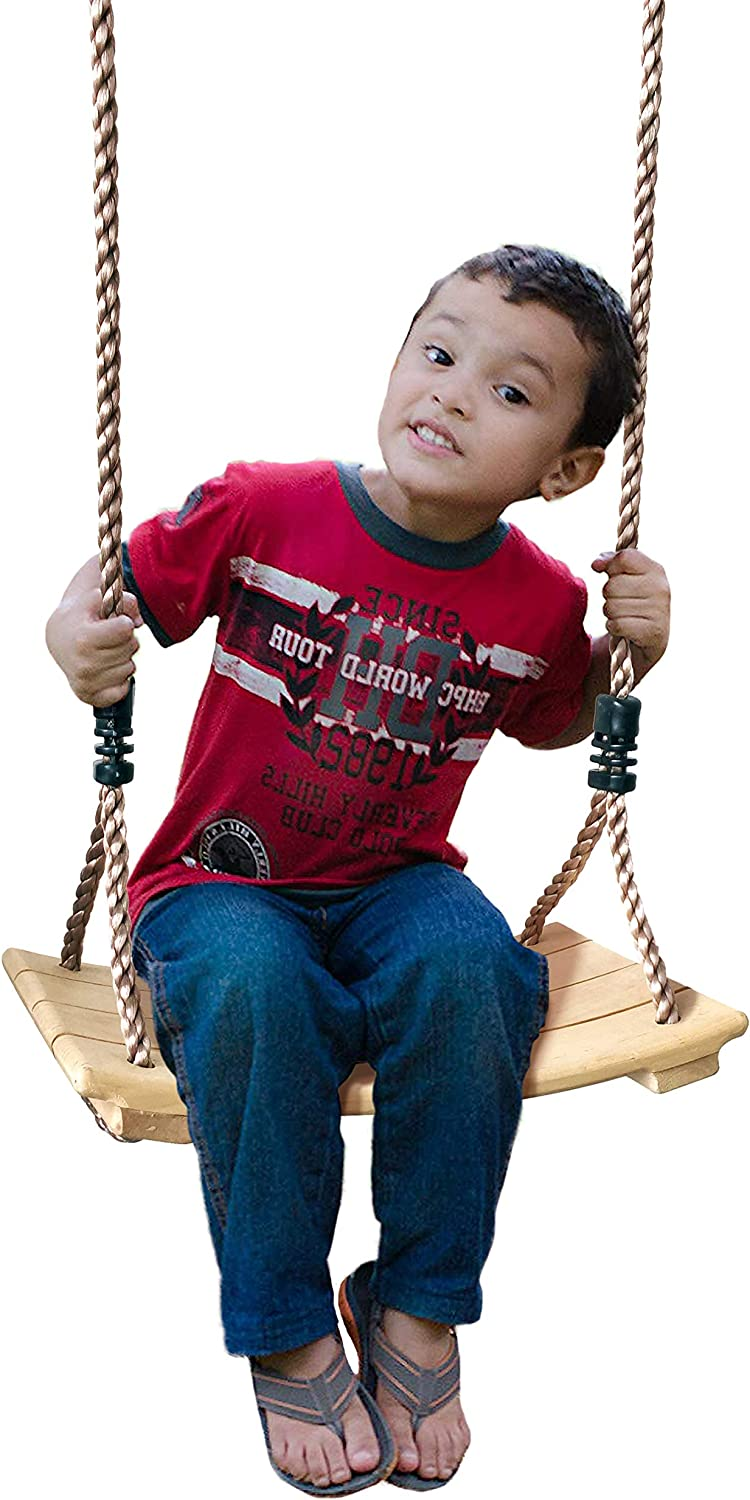 Toddler and Baby Swing Backyard Outdoor Toys Old Fashioned Handmade Children Toys REGULAR SIZE PINE Kids Wooden Swing Tree Swing