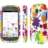 Samsung Galaxy Exhibit Case (T599), MPERO Collection Full Coverage Paint Splatter White Case for Samsung Galaxy Exhibit T599