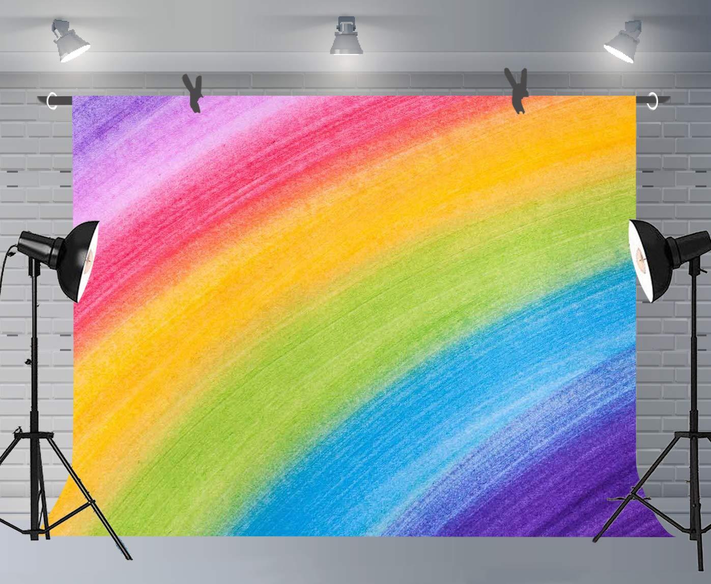 Amazon.com: fuermor Antecedentes 7 x 5ft arco iris Pintura ...