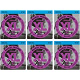 DAddario EXL120 Nickel Super Light Electric Guitar Strings 6-Pack