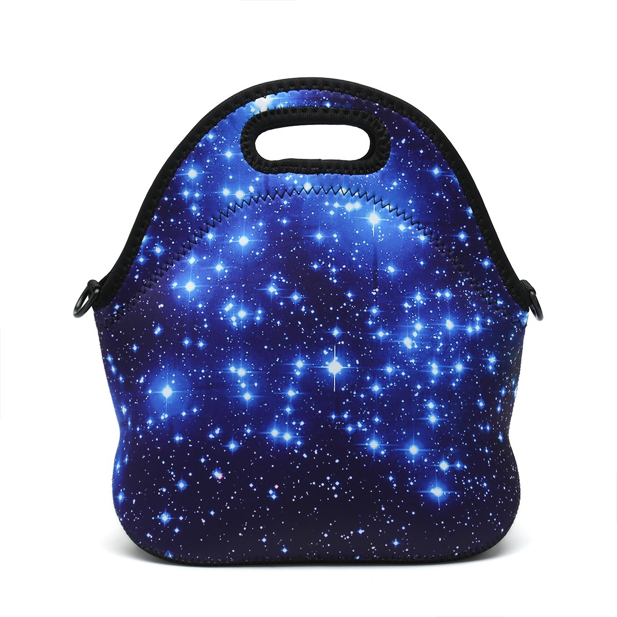 bluee Starry Sky Boys Girls Kids Women Adults Insulated School Travel Outdoor Thermal Waterproof Carrying Lunch Tote Bag Cooler Box Neoprene Lunchbox Container Case for Outdoors,Work,Office,School (Unicorn)