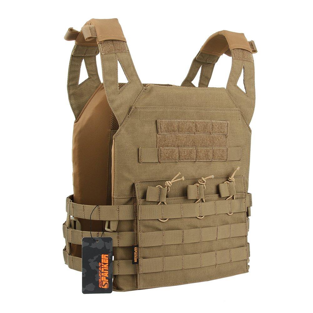 EXCELLENT ELITE SPANKER Tactical Airsoft Vest Outdoor Molle Child Small JPG Vest Game Protective Vest Modular Chest Set Vest for Fun-Children Version(COB)