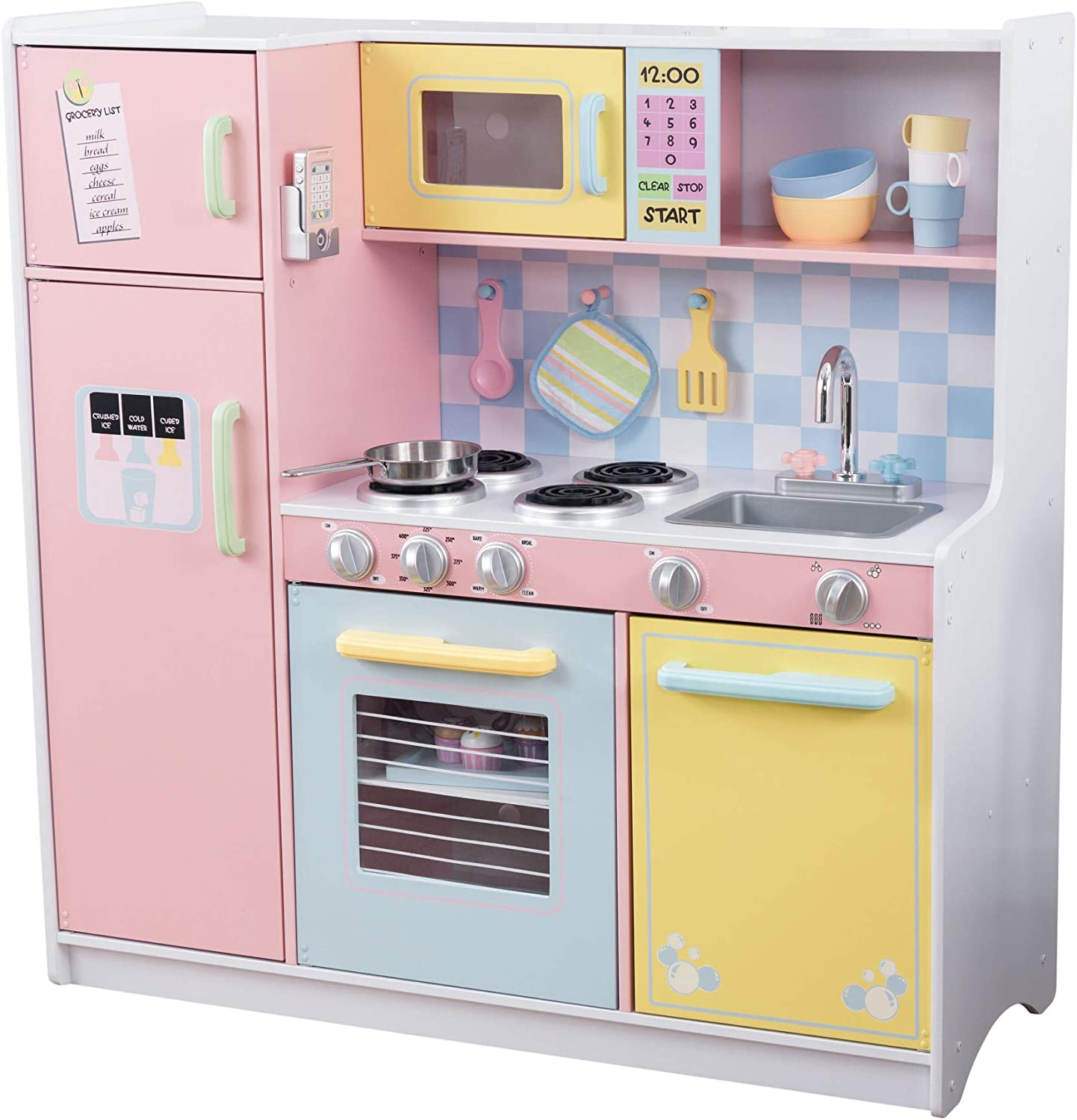 Amazon Com Kidkraft Large Kitchen Pastel Toys Games