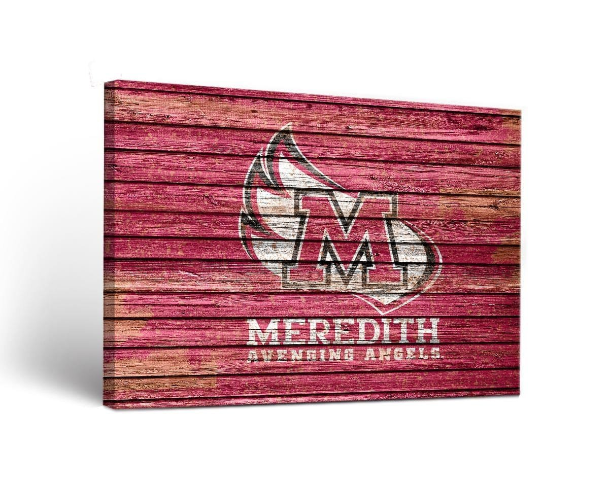 Victory Tailgate NCAA Meredith College Avenging Angels Weathered Canvas Wall Art, Multicolor, 18'' x 24'' by Victory Tailgate