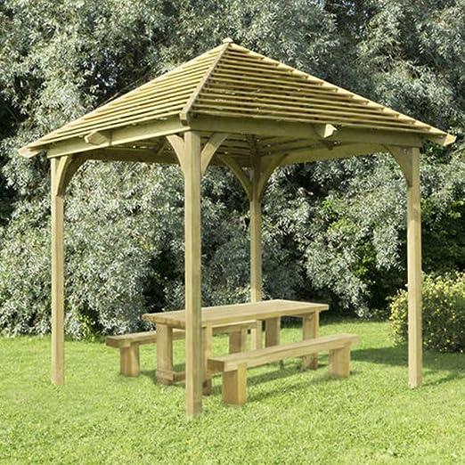 Comedor de madera de estructura de veneciano Pavilion Pergola ...