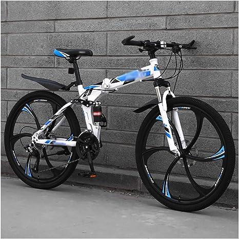 STRTG Adultos Plegado Bikes,Plegable Montaña Bike, Bicicleta Plegable, Bicicleta Plegable Urbana,24 * 26 Pulgadas Marco De Acero De Alto Carbono Bicicleta,21 * 24 * 27 velocidades: Amazon.es: Deportes y aire libre