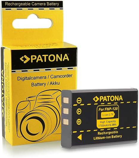 2x Bater/ía NP-120 compatible con Fuji FinePix F10 F11 M603 PATONA 4en1 Cargador