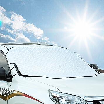 Freeauto Protector de Parabrisas Cubierta de Nieve y de Sol Antihielo Funda de Parabrisa Universal para Coche: Amazon.es: Coche y moto