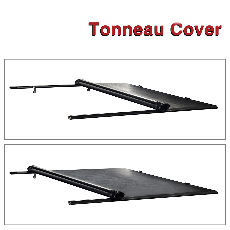 alxiang 1pieza abrazadera de vinilo negro sobre suave Lock & enrollable montaje superior Tonneau para rieles de montaje w/Hardware de montaje + ajuste 99 ...