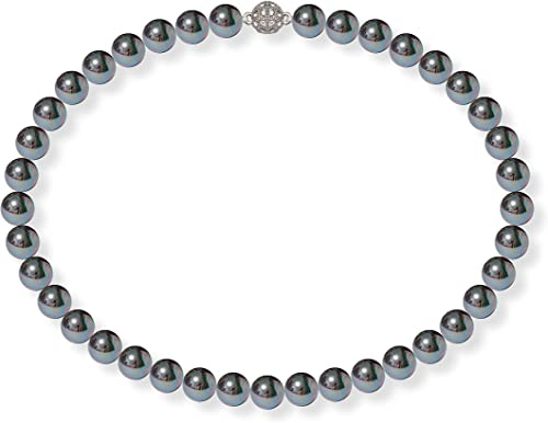 Perlen Kette Damen Hochzeit Halskette Süßwasser Magnetverschluss Edel 12mm