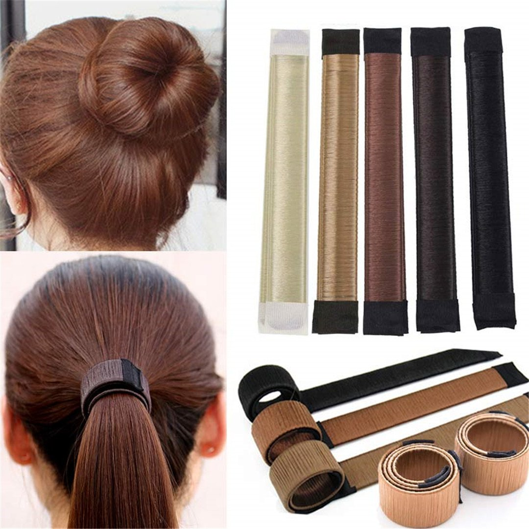 DIY Women Hair Accessory Ladies Foam Hair Band Wrap Styling Tool light brown by HAHUHERT (Image #2)