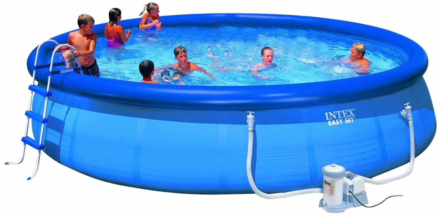 Intex Aufstellpool Easy Set Pools® Mit Filterpumpe, TÜV/GS, Blau, 457 X 91  Cm: Amazon.de: Garten
