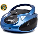 Lauson Boombox Stereo | Portable Radio CD Player with USB | Usb & MP3 Player | Headphone Jack (3.5mm) | CP736 (Blue)