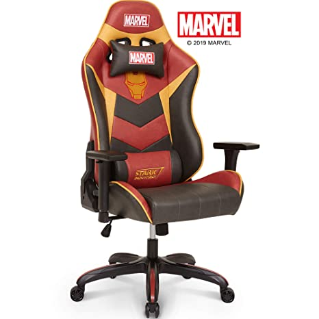 Fine Marvel Avengers Iron Man Big Wide Heavy Duty 400 Lbs Gaming Chair Office Chair Computer Racing Desk Chair Red Gold Endgame Infinity War Series Unemploymentrelief Wooden Chair Designs For Living Room Unemploymentrelieforg