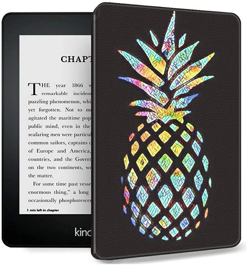 Case Fits All-New Kindle 10th Generation 2019, AIRWEE Slim PU Leather Shell Protective Cover with Auto Wake/Sleep, Will Not Fit Kindle Paperwhite 10th Gen 2018,Colorful Pineapple