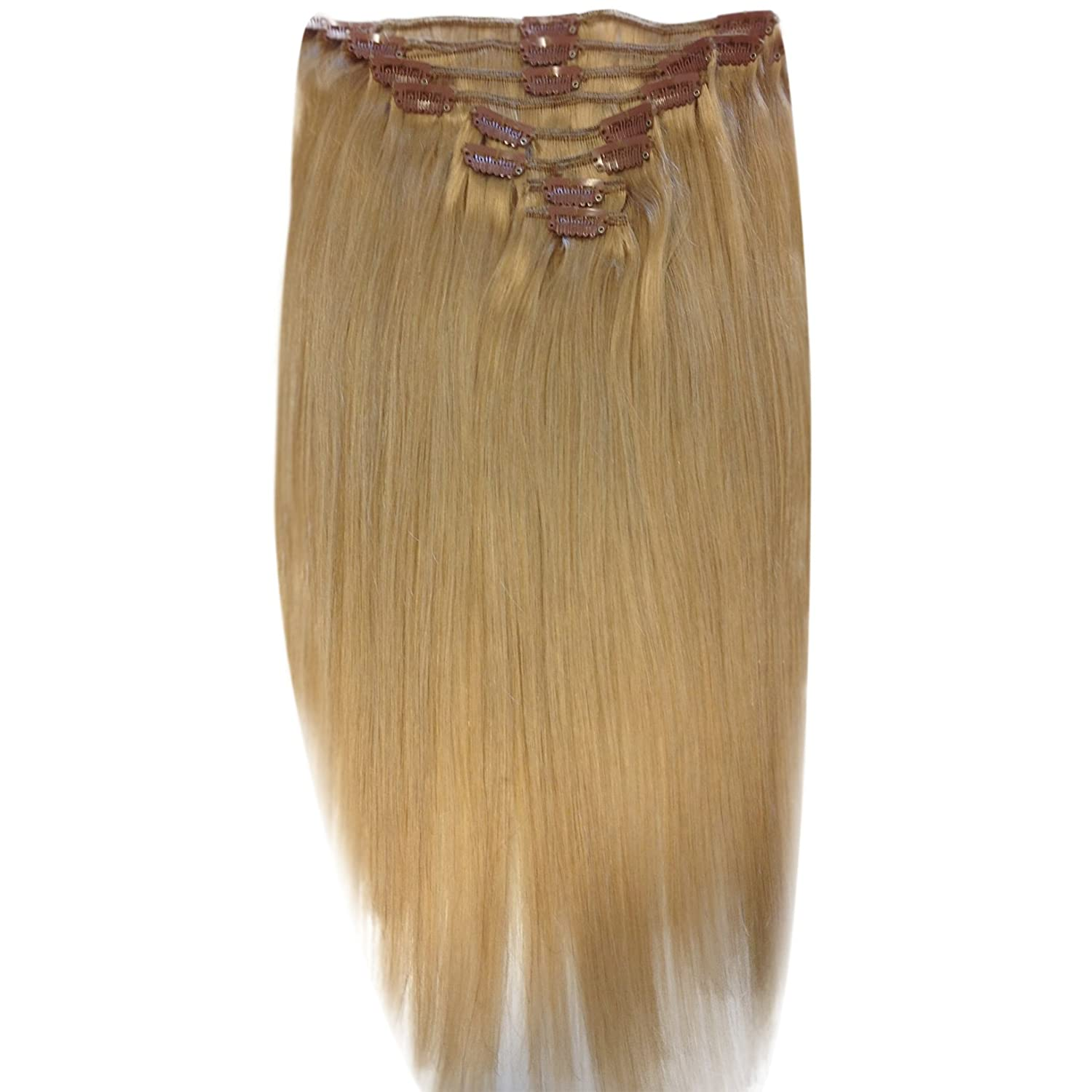 Amazon 18 inch golden blonde 16 full head clip in human amazon 18 inch golden blonde 16 full head clip in human hair extensions high quality remy hair 120g weight beauty pmusecretfo Gallery