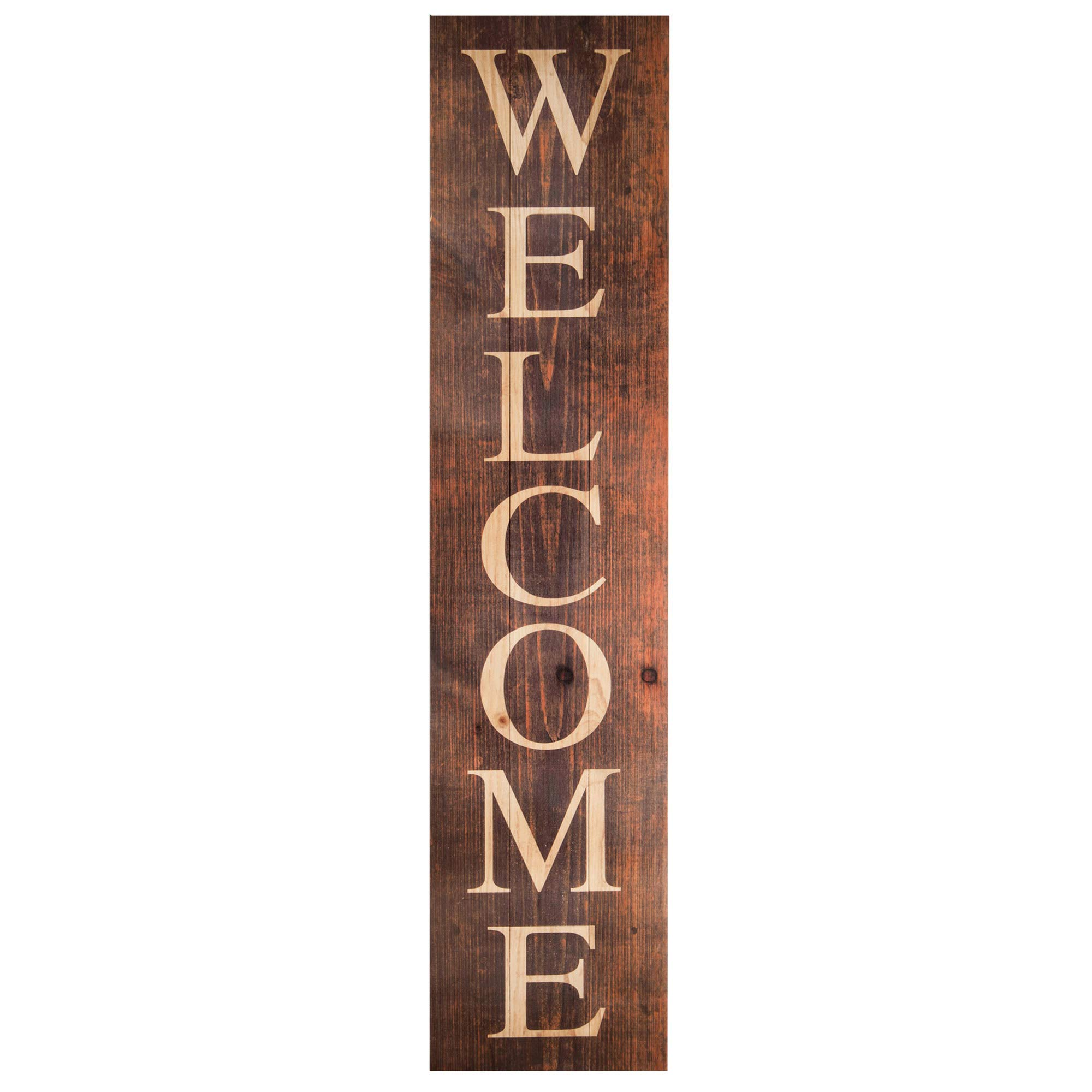 P. Graham Dunn Welcome Distressed Brown 10.5 x 47 Wood Pallet Wall Plaque Sign by P. Graham Dunn