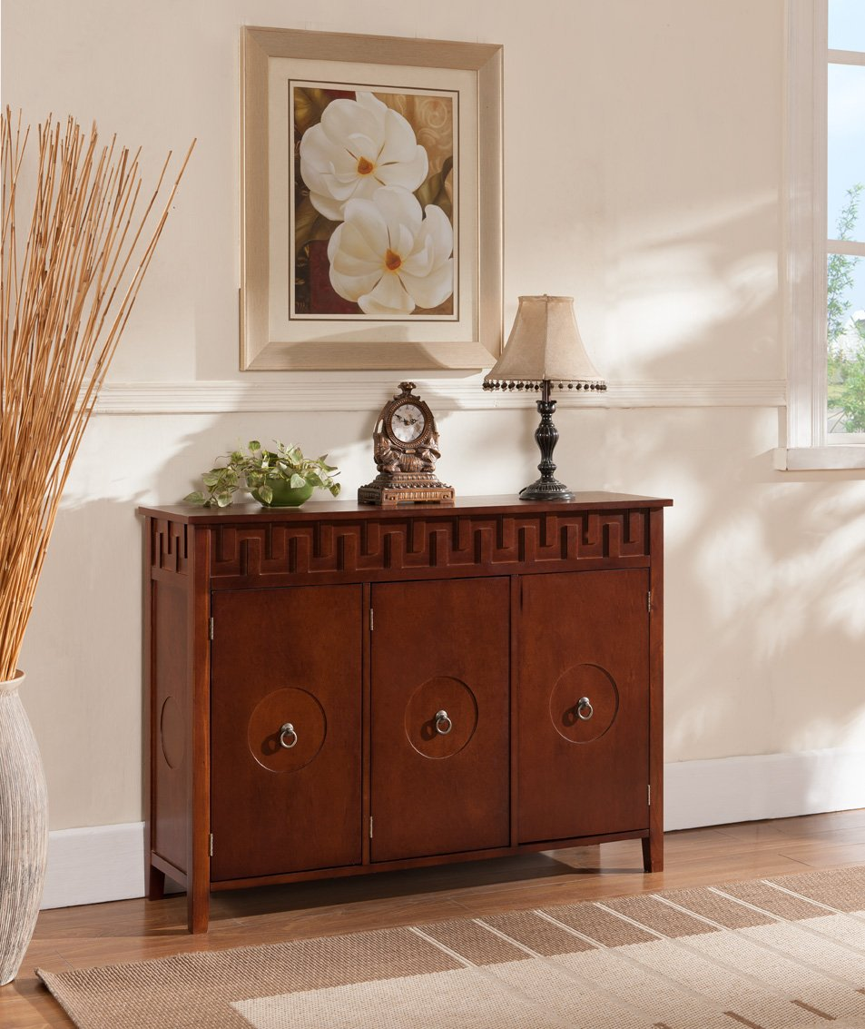 Amazon.com   Kings Brand Furniture Wood Console Sideboard Buffet Table With  Storage, Walnut   Buffets U0026 Sideboards