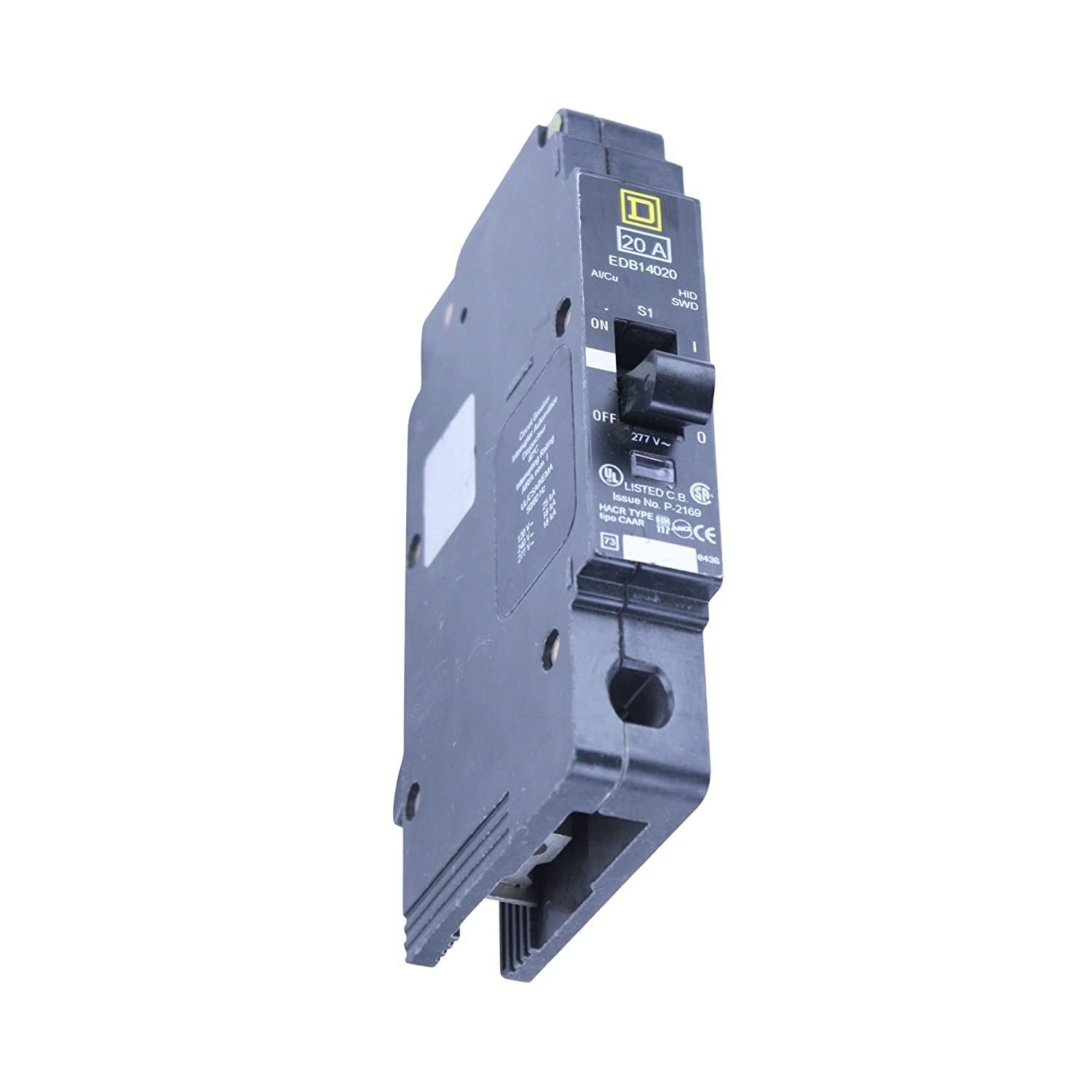Schneider Electric Edb14020 Miniature Circuit Breaker 277 Volt 20 Types Video Different Of Breakers Ehow Amp 277v 20a