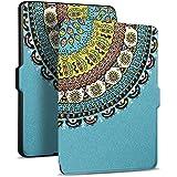 Capa Case Kindle Paperwhite Lua e Estrela Liga/Desliga (Totem Azul)