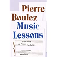 Image for Music Lessons: The Collège de France Lectures