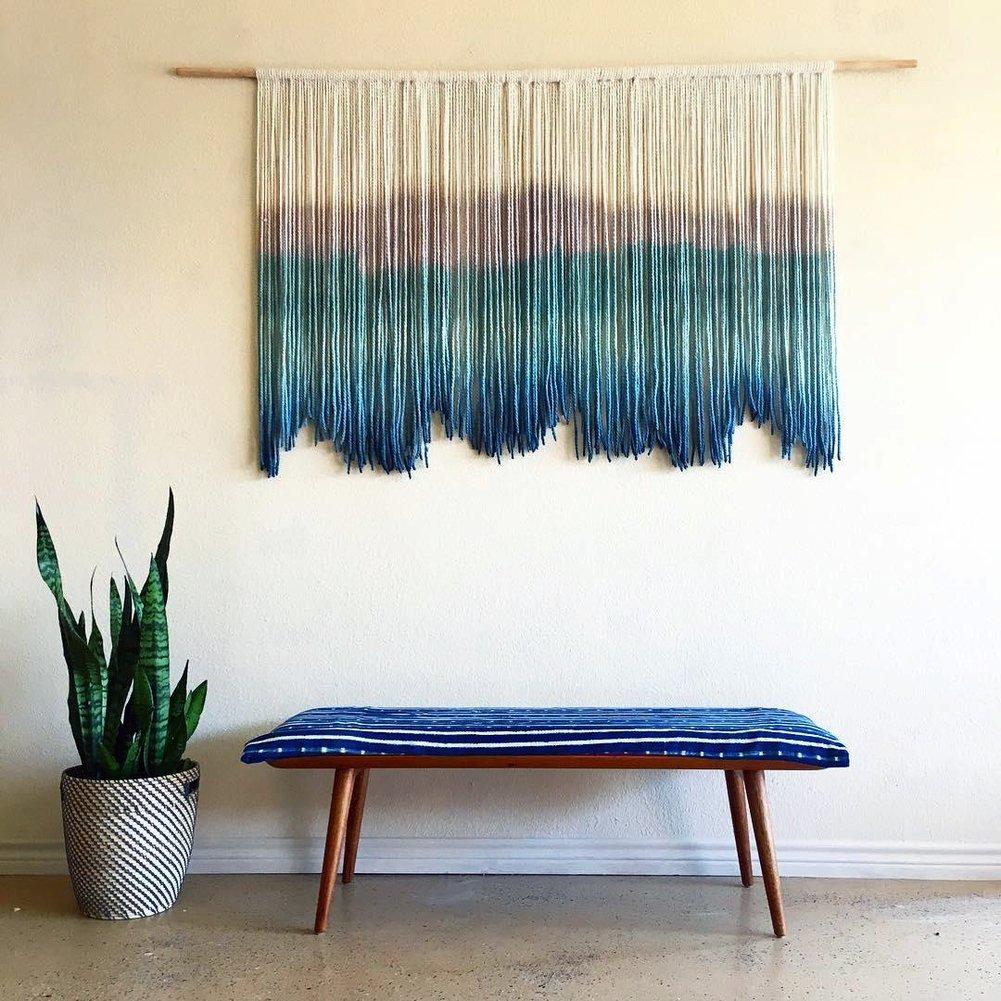 D&L Makramee wandbehang boho-inspirierten touch fenstervorhang-B W150xH90cm