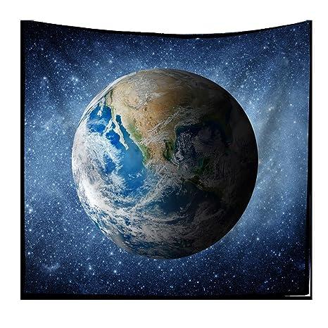 Pianeta Terra Arazzi Spazio Universo Stelle Cosmo Sfondo Arazzo