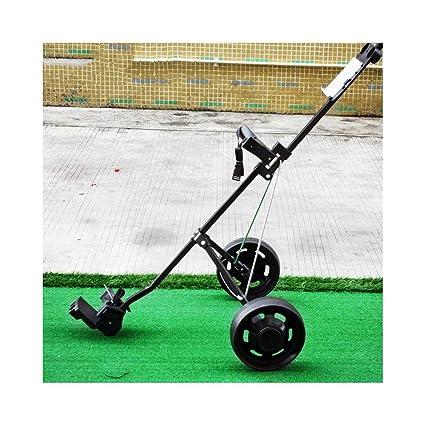 Carrito Golf Ruedas Empujar Tirar Freno Pie para Cerrar De Golf Deluxe con Practica Balls Ruedas