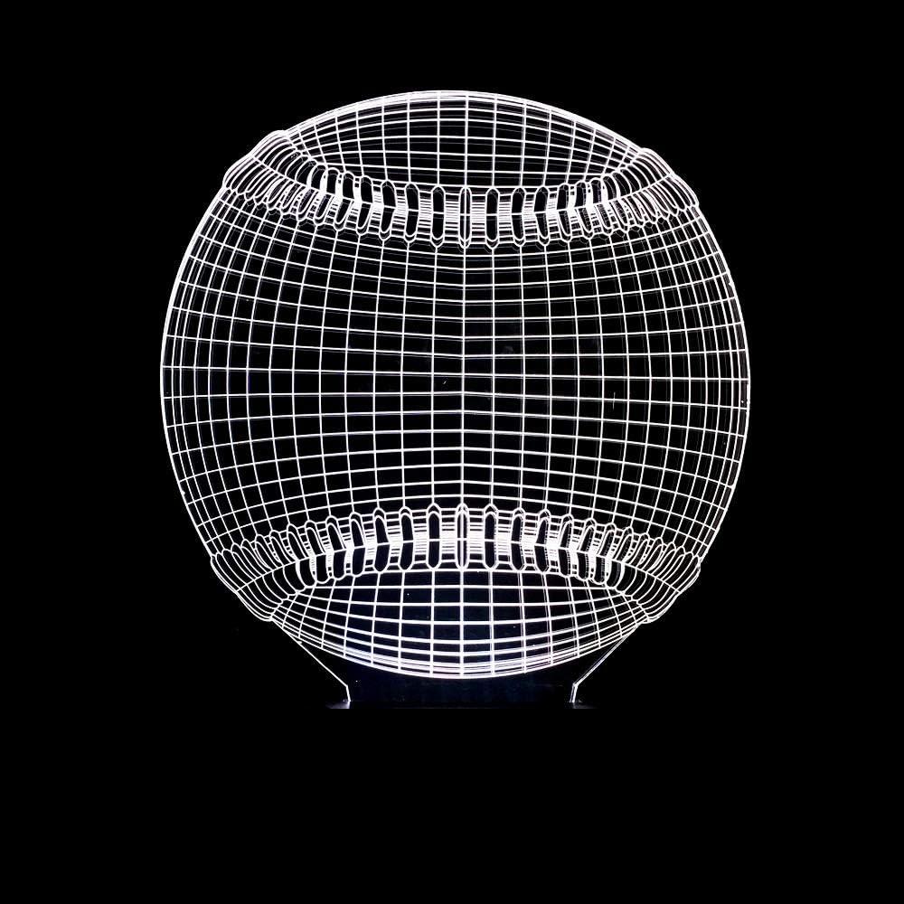 Regalos Lampara Lampada illusione Creativo Baseball 3D Luce ...