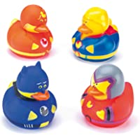 Baker Ross Hero Floating Rubber Ducks (Pack of 6) Perfect Party Favor Bag Filler for Children