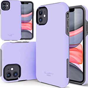 "TEAM LUXURY Case for iPhone 11 6.1 inch, [Clarity Series] Ultra Defender [Shockproof] Hybrid Protective Cover Phone Case for Apple iPhone 11 6.1"" - Lavender Purple"
