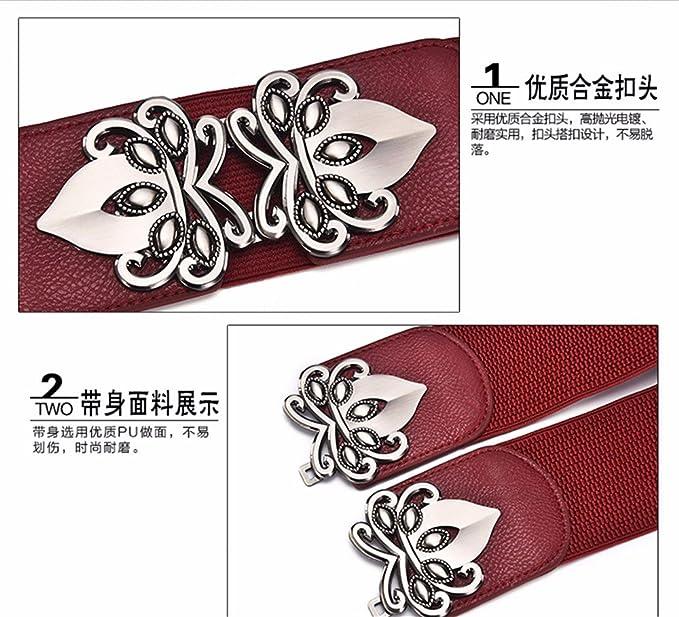 Taille élastique noeud papillon Femmes robe joint decoration large ceinture  élastique, marron, 65-80cm  Amazon.fr  Vêtements et accessoires 6709c27a43a