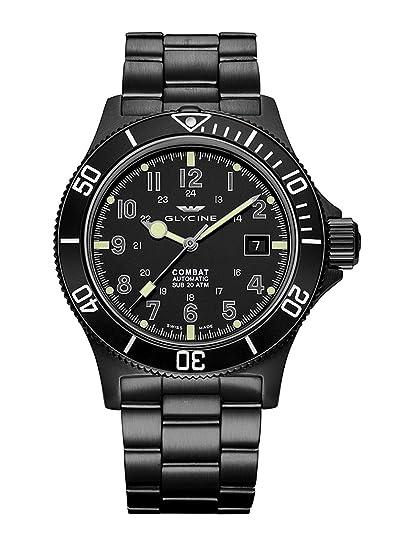 Glycine GL0079-3908.959AT.N1.MB9 Combat Sub 42 - Reloj de Pulsera para Hombre con Fecha, analógico, automático: Amazon.es: Relojes
