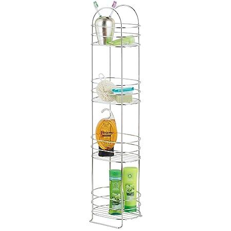 VonHaus 4 Tier Freestanding Chrome Bathroom Storage Shelf Rack Stand ...