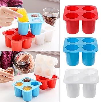Yasheep - Molde de silicona para hacer cubitos de hielo en forma de vaso de chupito