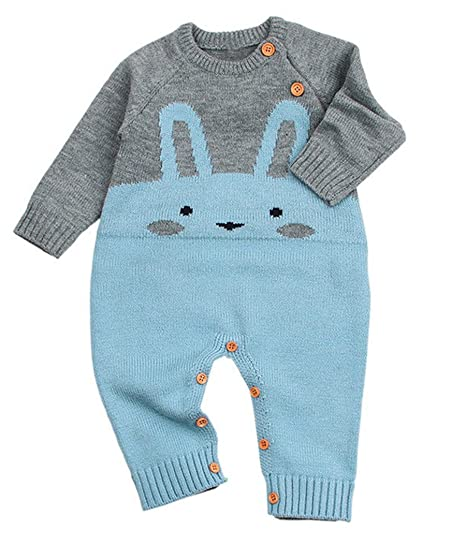 34e4606f8 Amazon.com  Emmababy Toddler Newborn Baby Girls Boy Bunny Romper ...