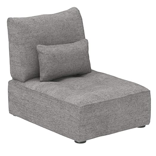 Marca Amazon - Alkove Elvas - Módulo uniplaza con almacenaje y cojín adicional para sofá modular, 70 x 100 cm, gris