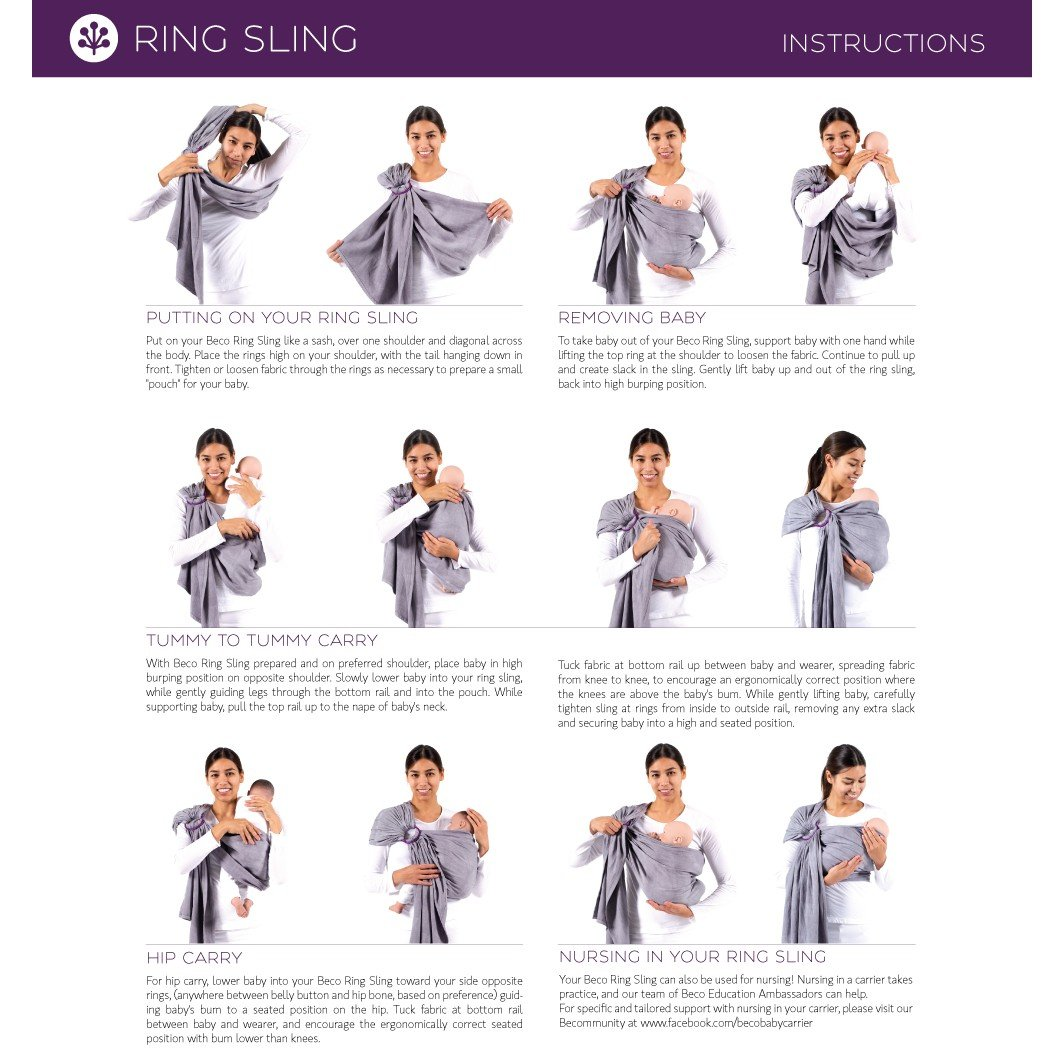 sling baby carrier instructions