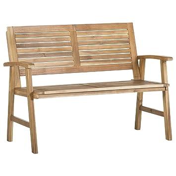 Amazonde Outliv Gartenbank Holz Akazie 2 Sitzer Bali Holzbank