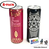 Black Magic Energy All Night Energy Drink and Love Potion Energy Drink with 2 GosuToys Stickers